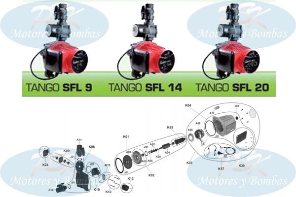 """Bomba Presurizadora Rowa Modelo Tango SFL """"Repuestos"""""""