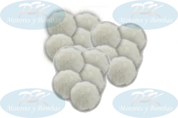 Pompones (FilterBall) Para Filtro.  Carga Filtrante Piscinas