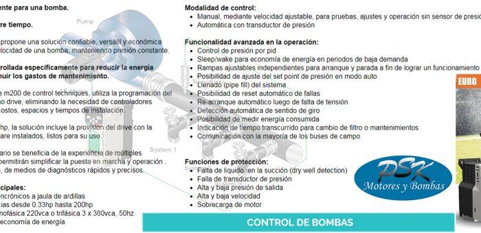 Variador, control de bombas
